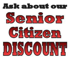 Ask about our senior citizen discount